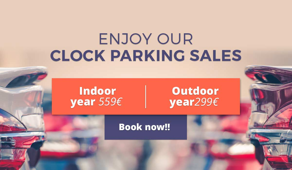 Secure and monitoring 24 hours Indoor parking